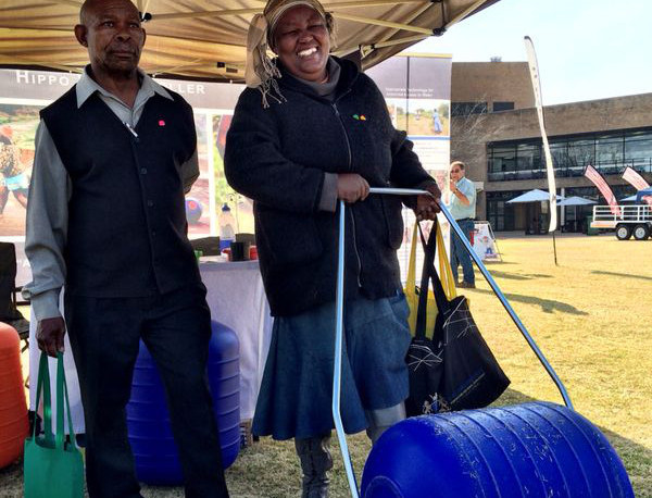 Farmers receive rollers for irrigation