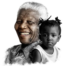 Nelson Mandela and young girl