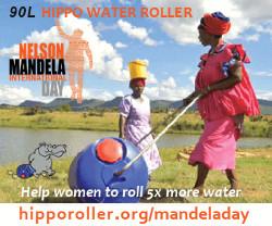 mandela day water roller ad